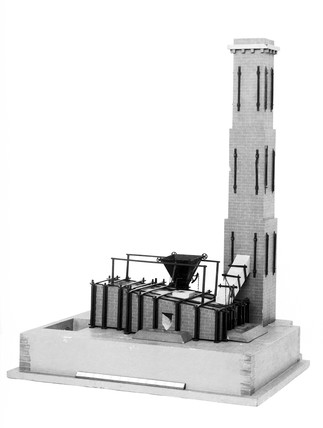 Model of a Welsh Reverberatory smelting fur