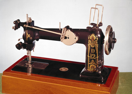 Wheeler and Wilson D12 twin-needle lock-stitch sewing machine, 1890.