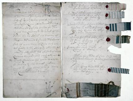 Specimens of linen, 1783.