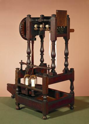 Arkwright 's prototype spinning machine, 1769.