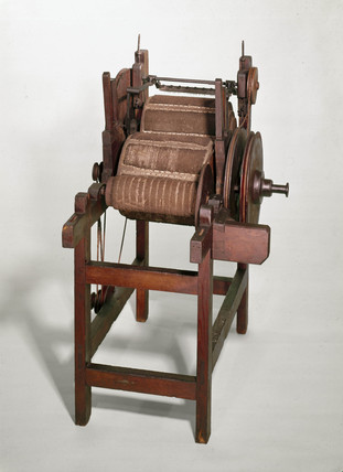 Arkwright's carding machine, 1775.