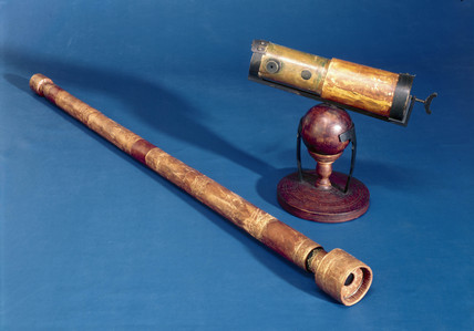 Telescopes of Galileo and Newton, 17th century.