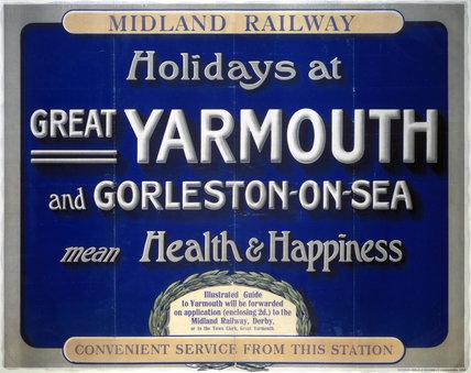 'Holidays at Great Yarmouth and Gorleston-on-Sea', MR poster, 1923-1947.