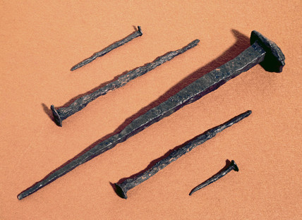 Five Roman iron nails, late 1st century AD.