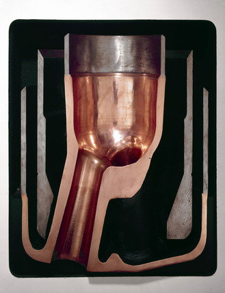 Oxygen lance nozzle asembly, used in basic oxygen steel-making, c 1970.