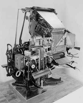 Model 48 linotype composing machine, c 1957