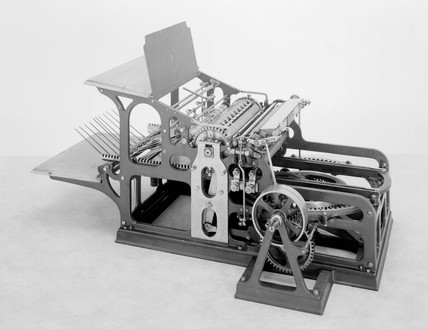 Koenig and Bauer's stop cylinder printing pres, 1905.