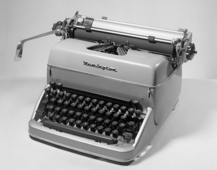Remington standard typewriter, 1950.