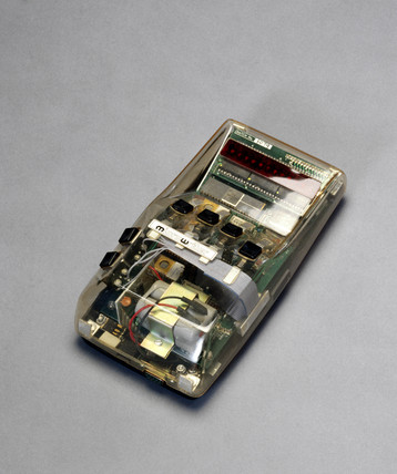 Production model Microwriter with transparent case, 1979.