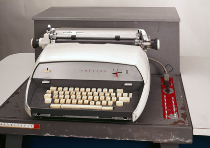 Royal-Typer automated typewriter, 1960s.