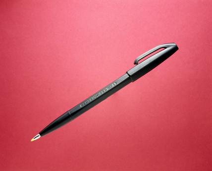 First fibre-tip pen, 1962.