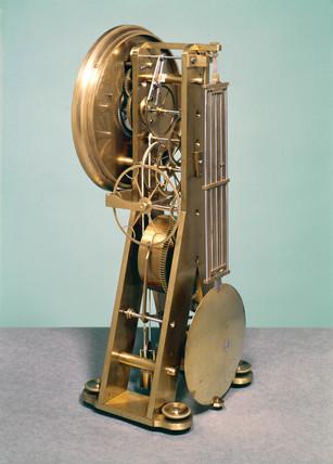 Skeleton clock, French, 1850.