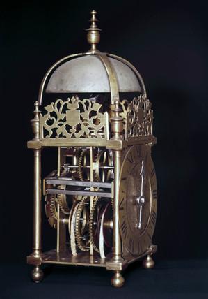 Lantern clock, c 1650.