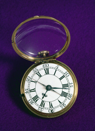 Cylinder escapement stopwatch, 1748.