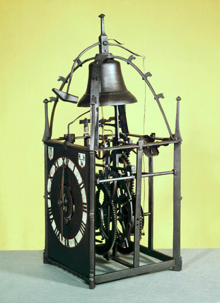 Iron chamber clock, probably German, 16th century.