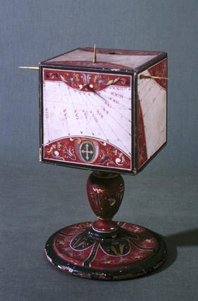 Cubical sundial, Italian, c 1560.
