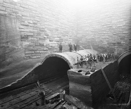 Demolition work in Liverpool, 1881