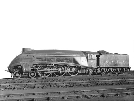A4 class 'The Mallard' locomotive, Doncaster Works, 2 December 1946.