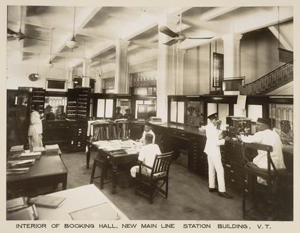 Booking hall, Victoria Terminus, Bombay, India, c 1930.