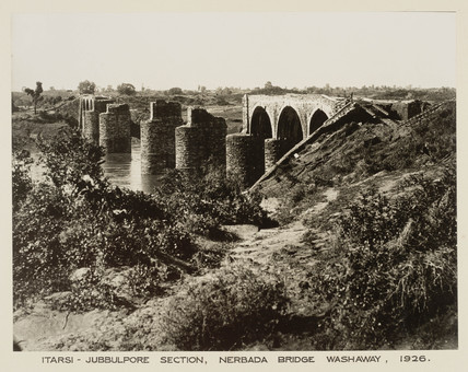 Nerbada Bridge, between Itarsi and Jabalpur, India, 1926.