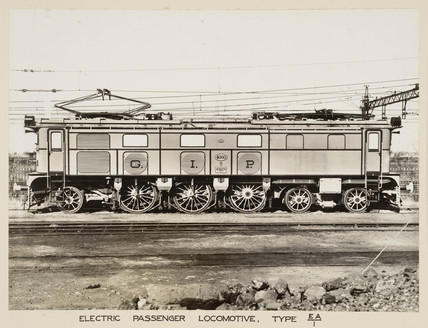 Electric locomotive, India, c 1930.