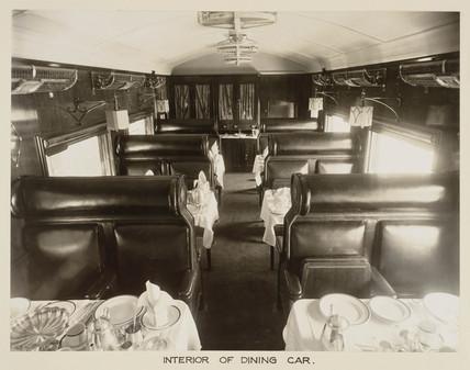 Dining car, India, c 1930.