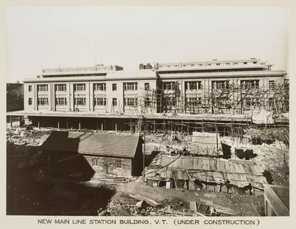 Main line station, Victoria Terminus, Bombay, India, c 1930.