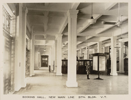 Booking hall, Victoria Terminus, Bombay, India, c 1930.