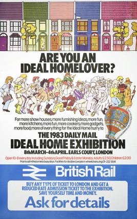 'Are you an Ideal Home Lover?' poster, 1983.
