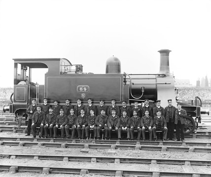 Locomotive number 84, c 1900.