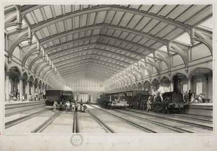 Bristol station, 1845