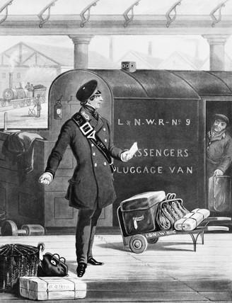 Railway porter, 1852.