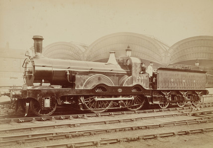 2-4-0 locomotive, c 1880.