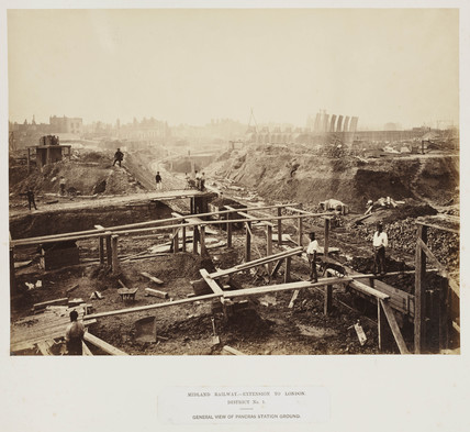 Construction of St Pancras station, 1867