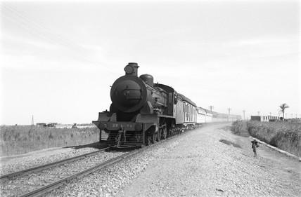Cairo to Port Said Express at Rassoua, Egypt, 1941.