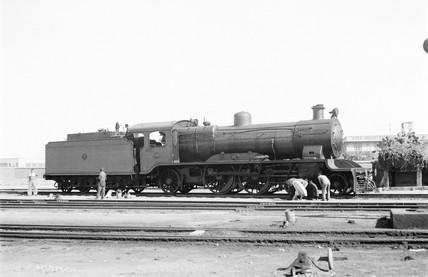Class 26 locomotive at Alexandria, Egypt, 1941.
