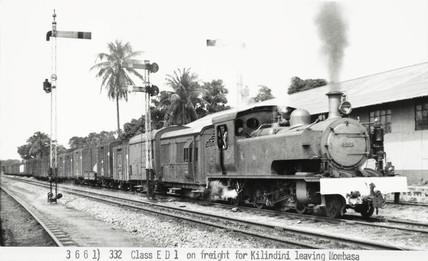 Class ED1 locomotive, Mombasa, Kenya, 1941.