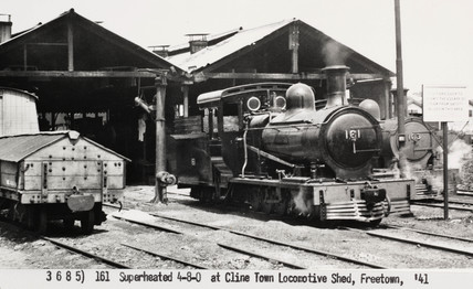 Steam locomotive at Freetown, Sierra Leone, 1941.