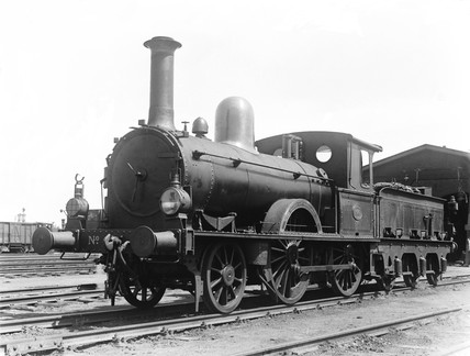 A class P/1 2-4-0 locomotive, The Hague, Holland, 1932.