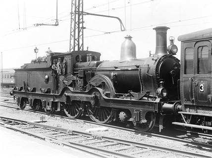 A class P/3 2-4-0 locomotive, Rotterdam, Holland, 1932.