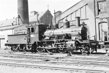 Class 21C locomotive at Oslo, Norway, 1954