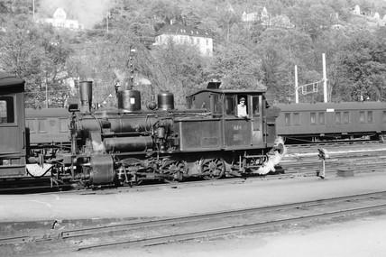 Class 25D locomotive at Bergen, Norway, 1954.