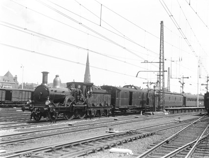 Class P/3 2-4-0 locomotive, Rotterdam, Holland, 1932.
