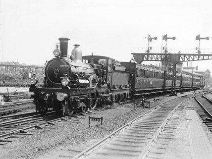 A class P/3 4-4-0 locomotive, Amersfoort, Holland, 1932.