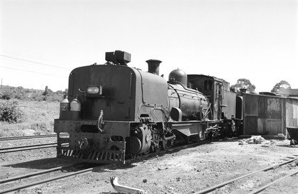 Garratt locomotive at Loerie, South Africa, 1968.