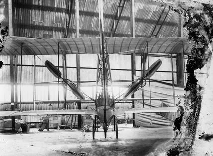 Cody aeroplane No1, rear view of modifications, 1908.
