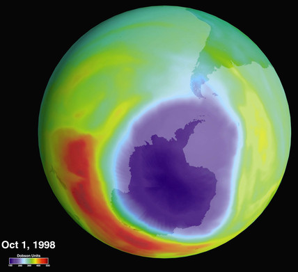 'Hole in the Ozone Layer over Antarctica', 1 October 1998.