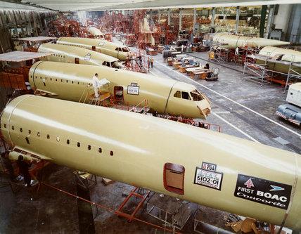 Concorde factory, c 1970s.