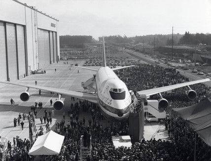 Boeing 747 prototype, Washington, USA, 30 September 1968.