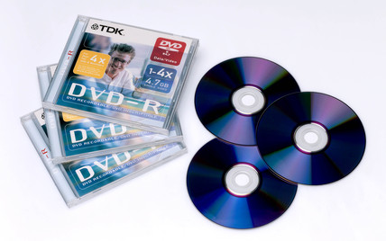 TDK digital video discs (DVDs), 2004.